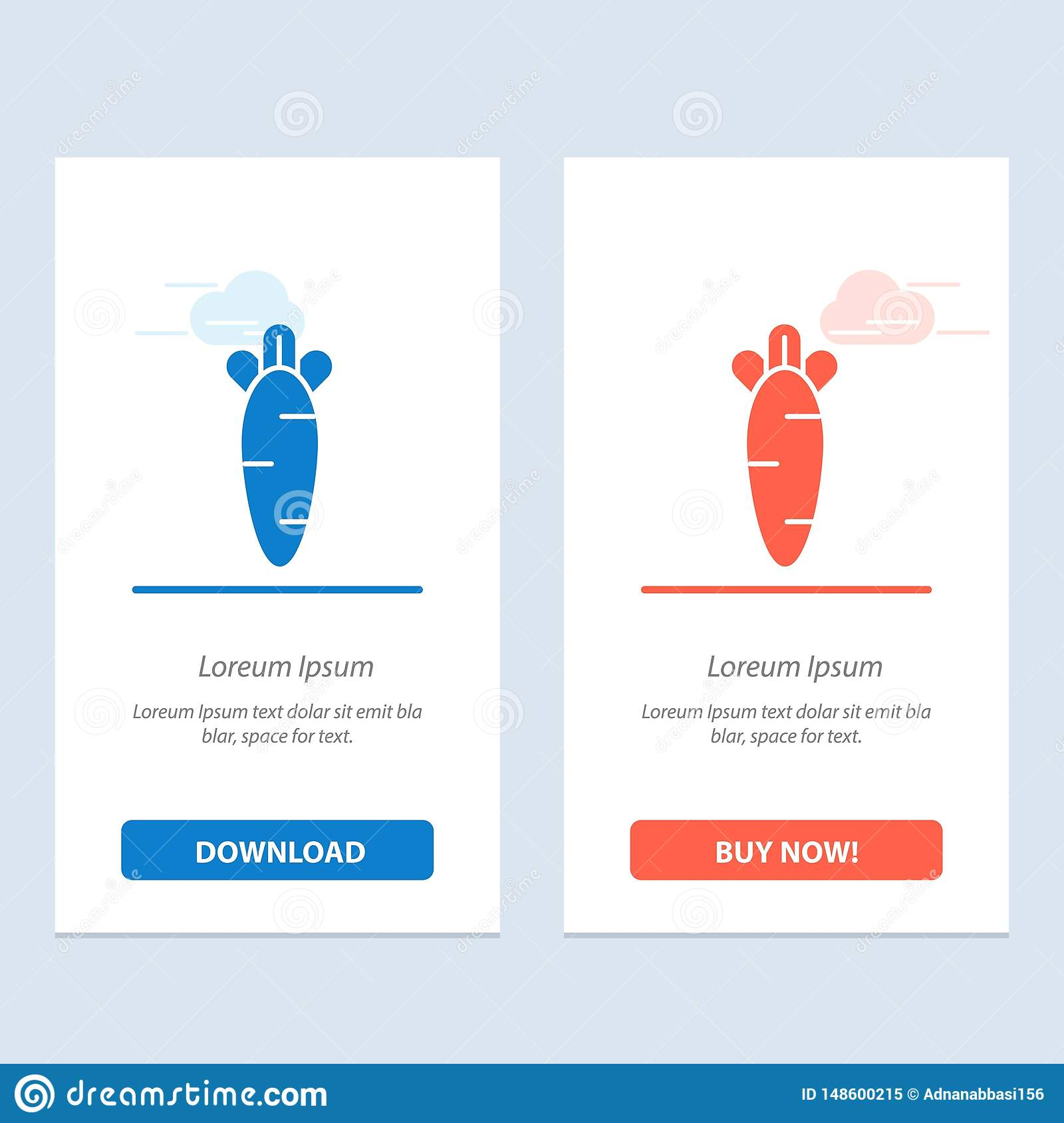 Carrot, Food, Easter, Nature  Blue and Red Download and Buy Now web Widget Card Template