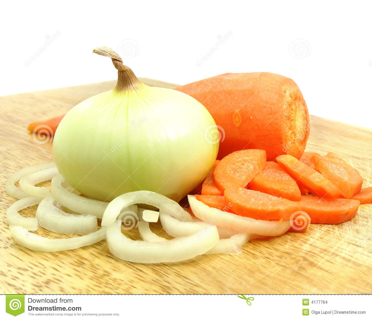 Carrot and onion vegetables still life