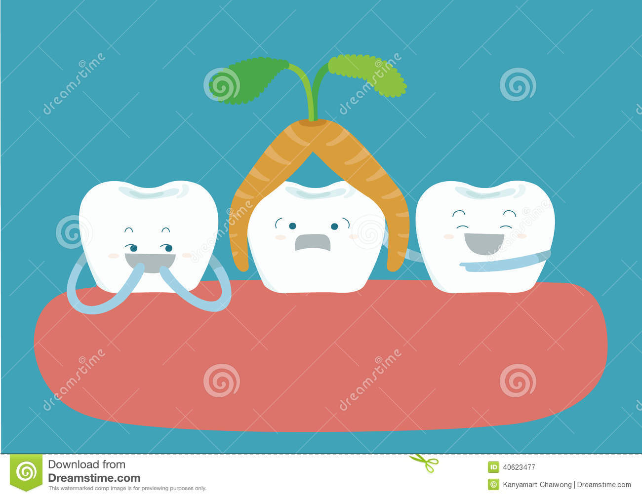 Carrot over head tooth and other tooth amuse