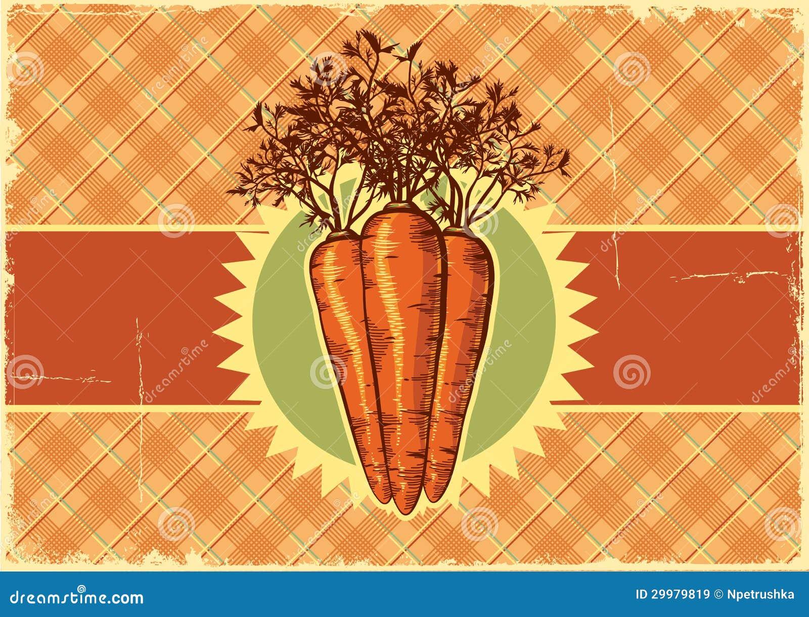 Carrots.Vintage Label Background For Design Royalty Free ...