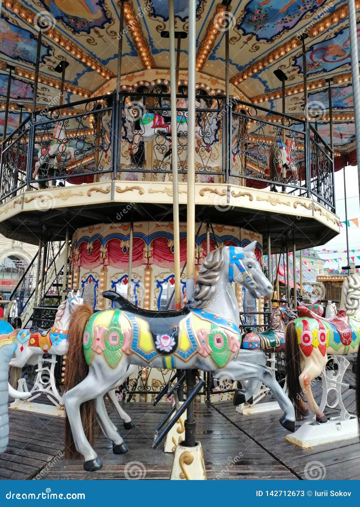 Carrousel à la foire Cheval