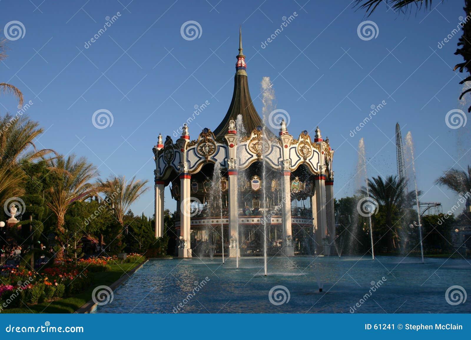 Carrousel bij Pretpark