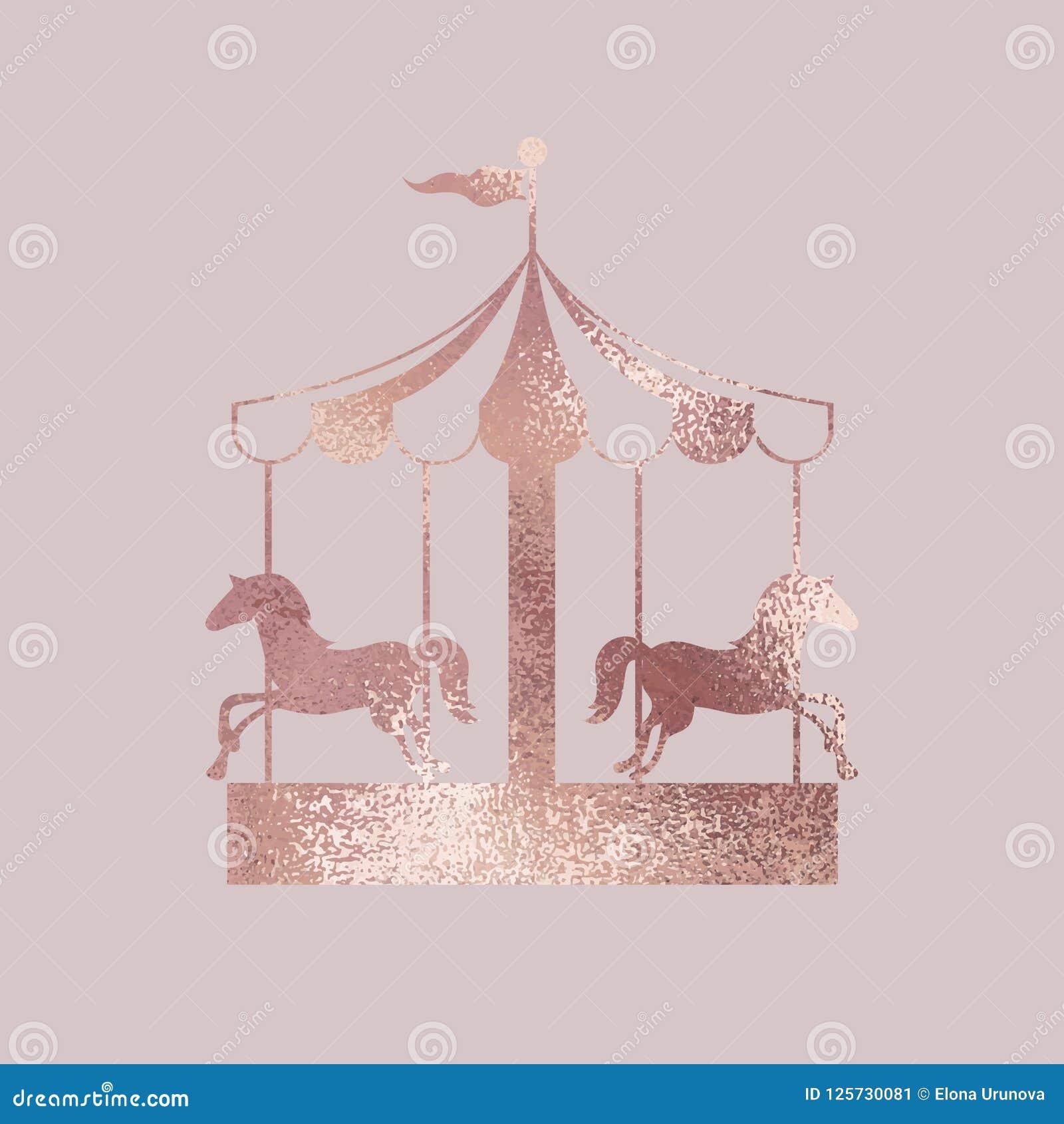Carrousel Nam goud toe Elegante vectorillustratie