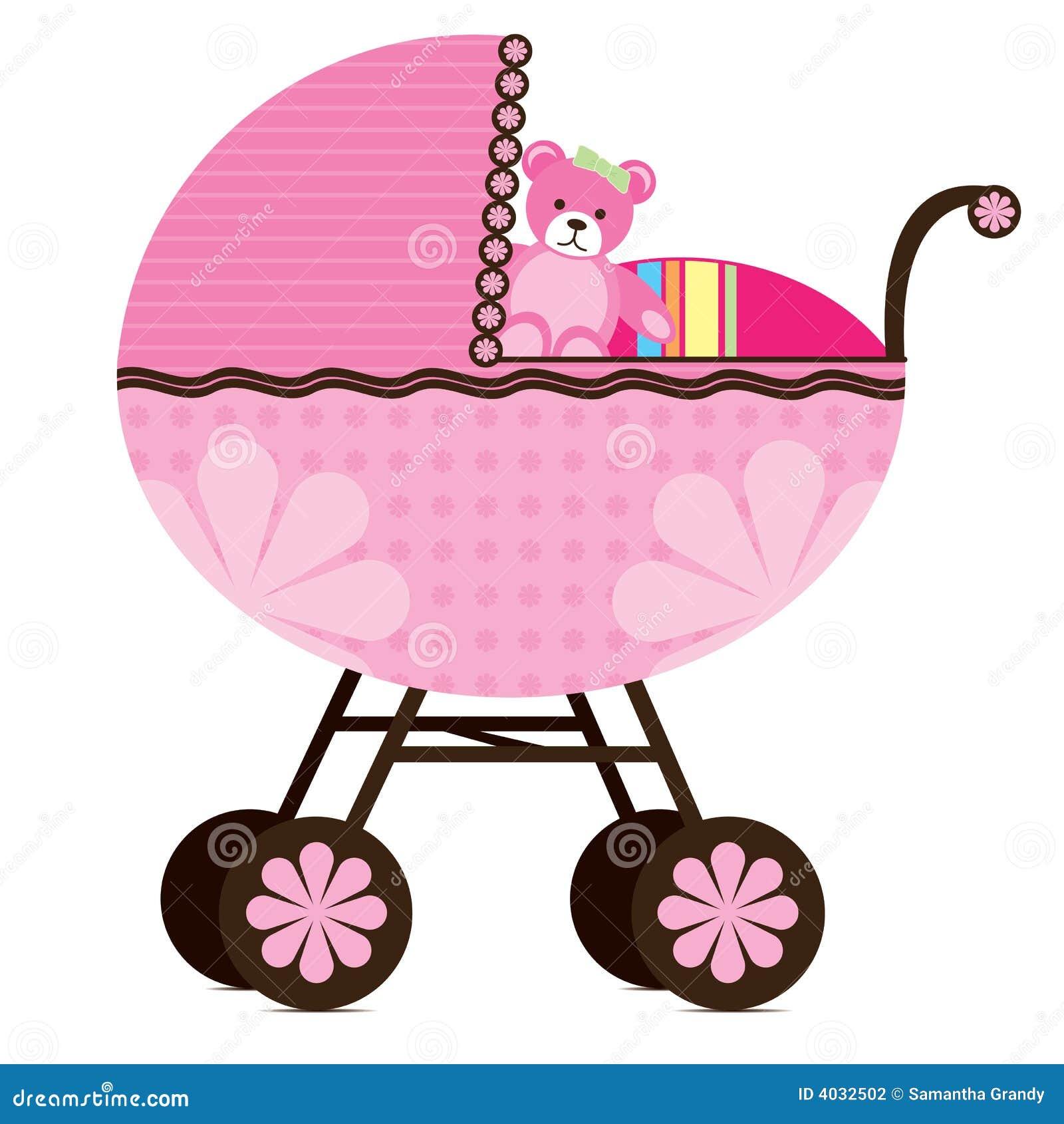 Carrozzina Per La Neonata Illustrazione Vettoriale