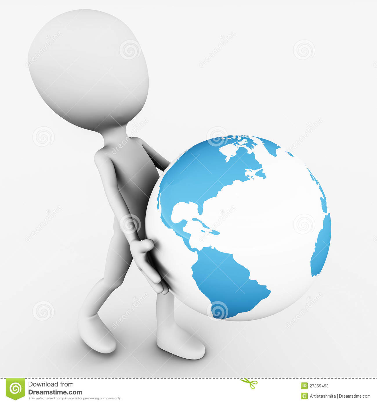 carry earth stock illustration illustration of save 27869493
