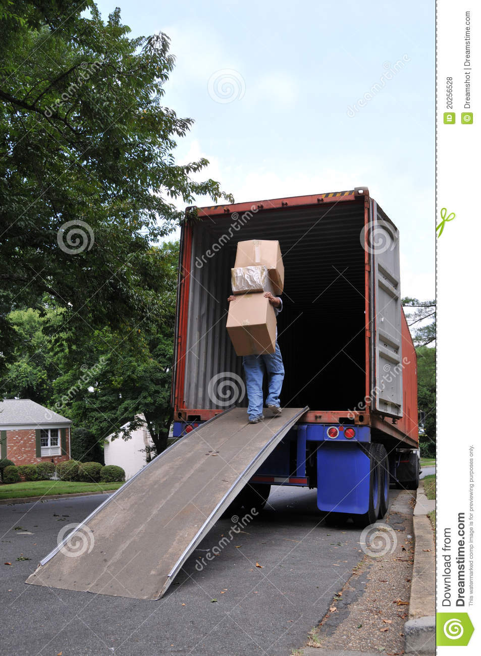 Carrying Boxes Into Moving Truck Stock Photo Image 20256528