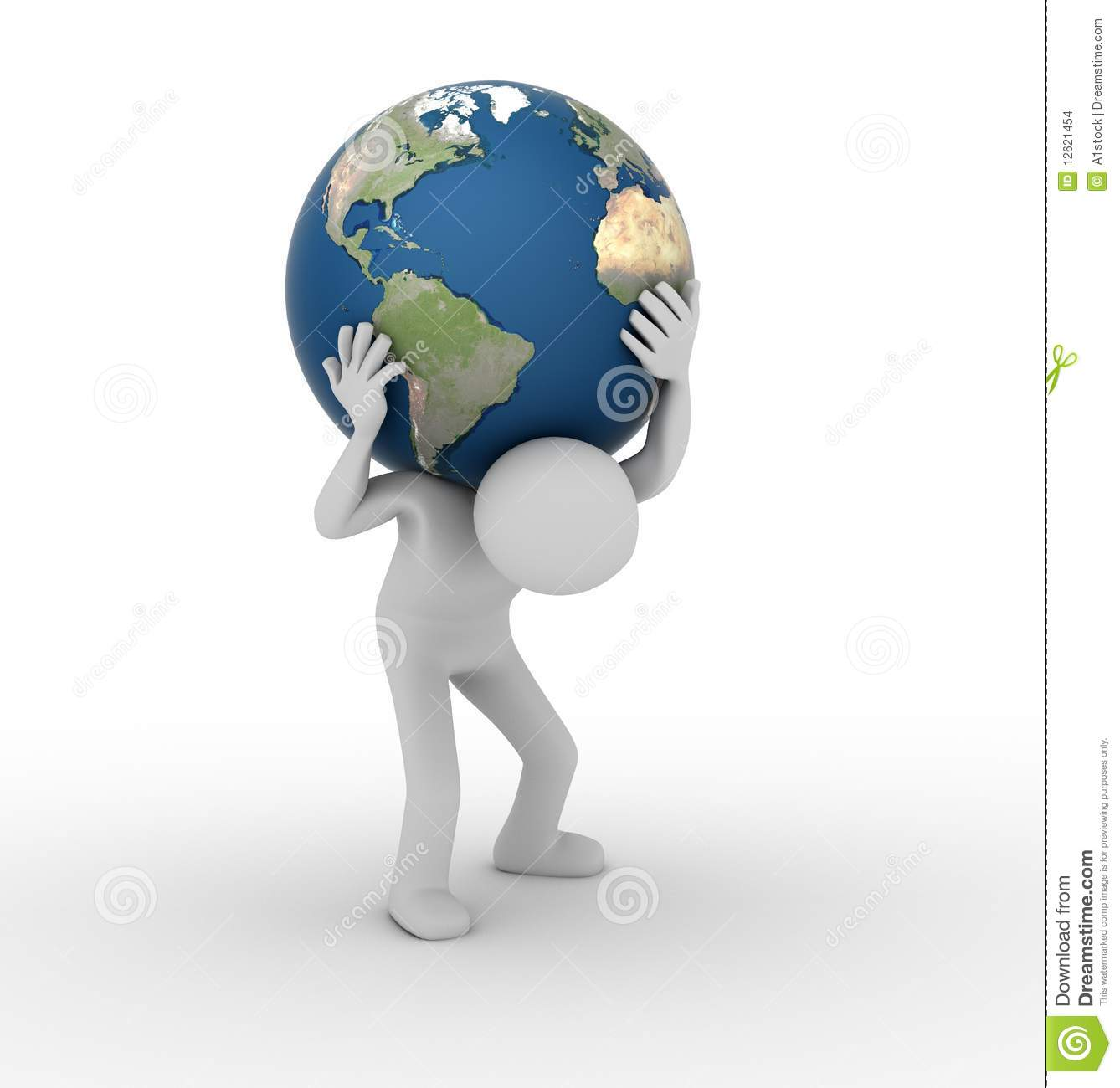 Carrying The World Like Atlas Stock Images Image 12621454
