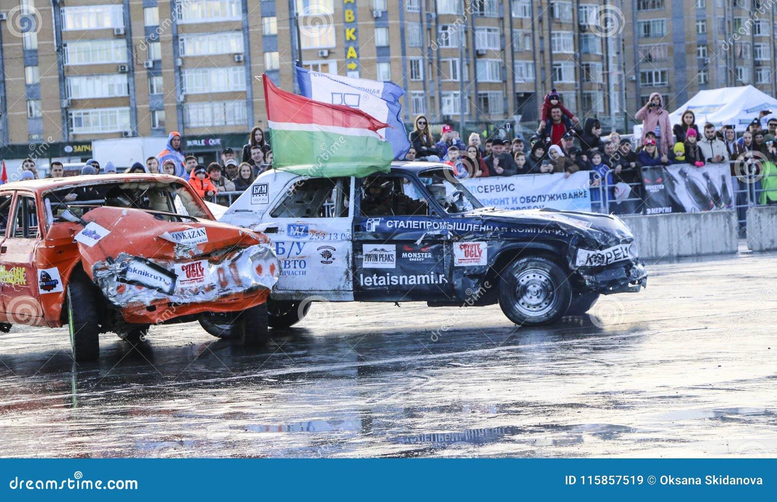 KAZAN, RUSSIA - APRIL 29, 2018:Auto Derby  Extreme Auto Show