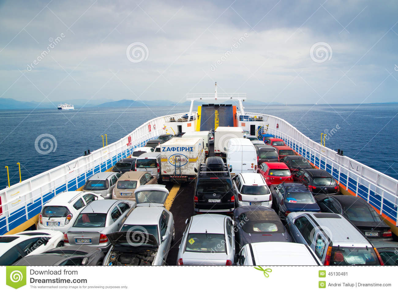 Cars On Ferry Editorial Photo - Image: 45130481