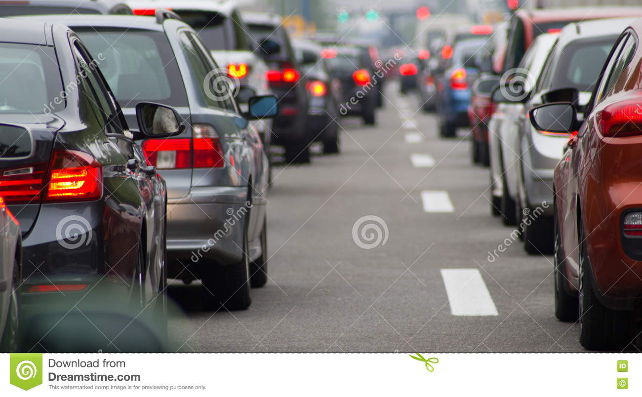Download Cars On Highway In Traffic Jam Stock Image - Image of common, city: 71185979