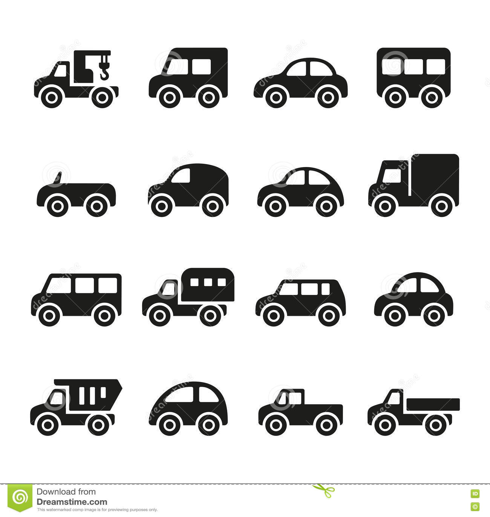 cars icon set stock image   image 33838991
