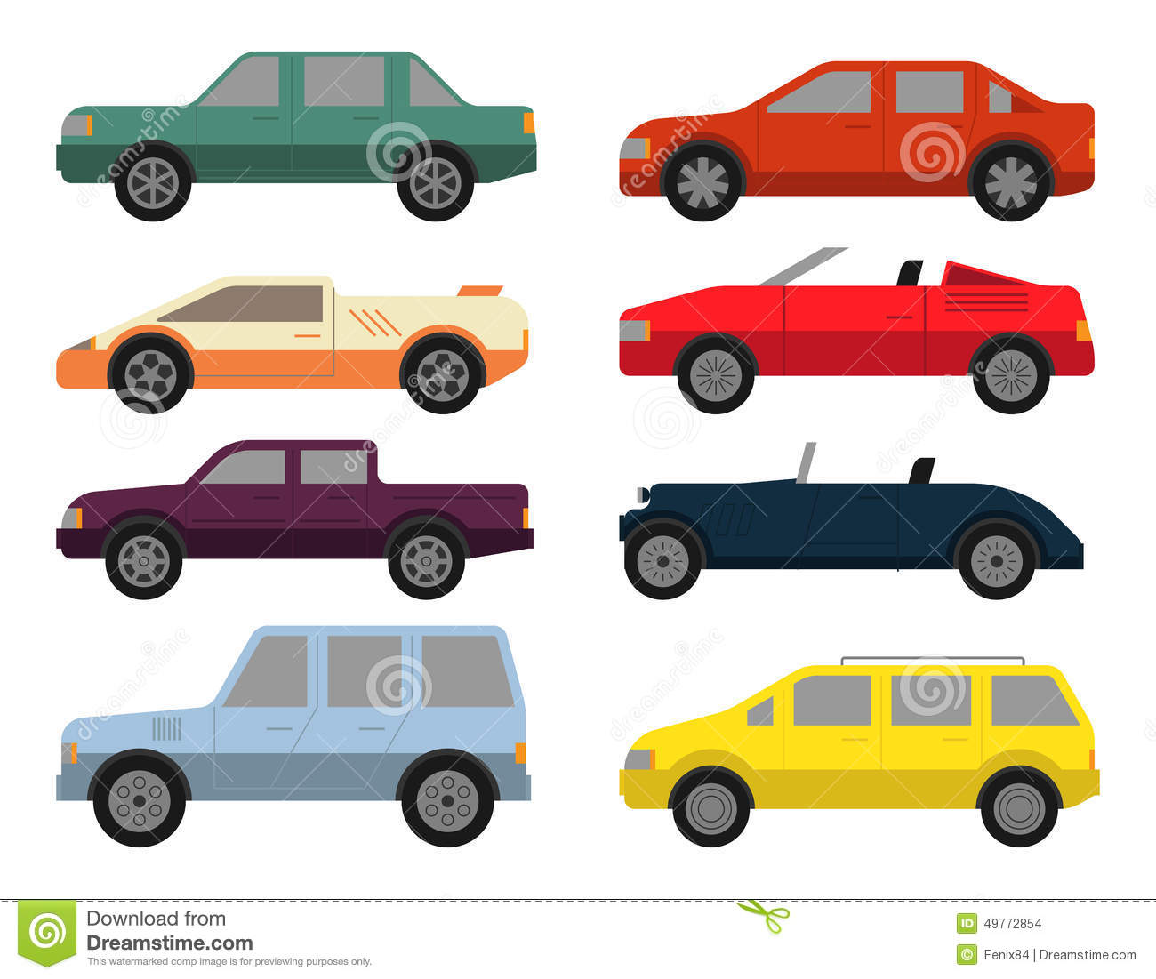 cars icon set stock images