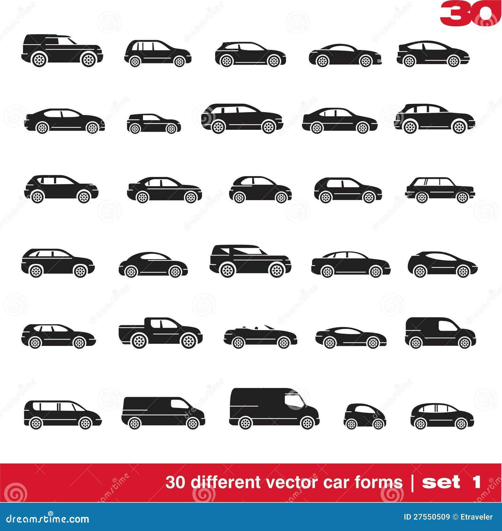 Cars icons set 1