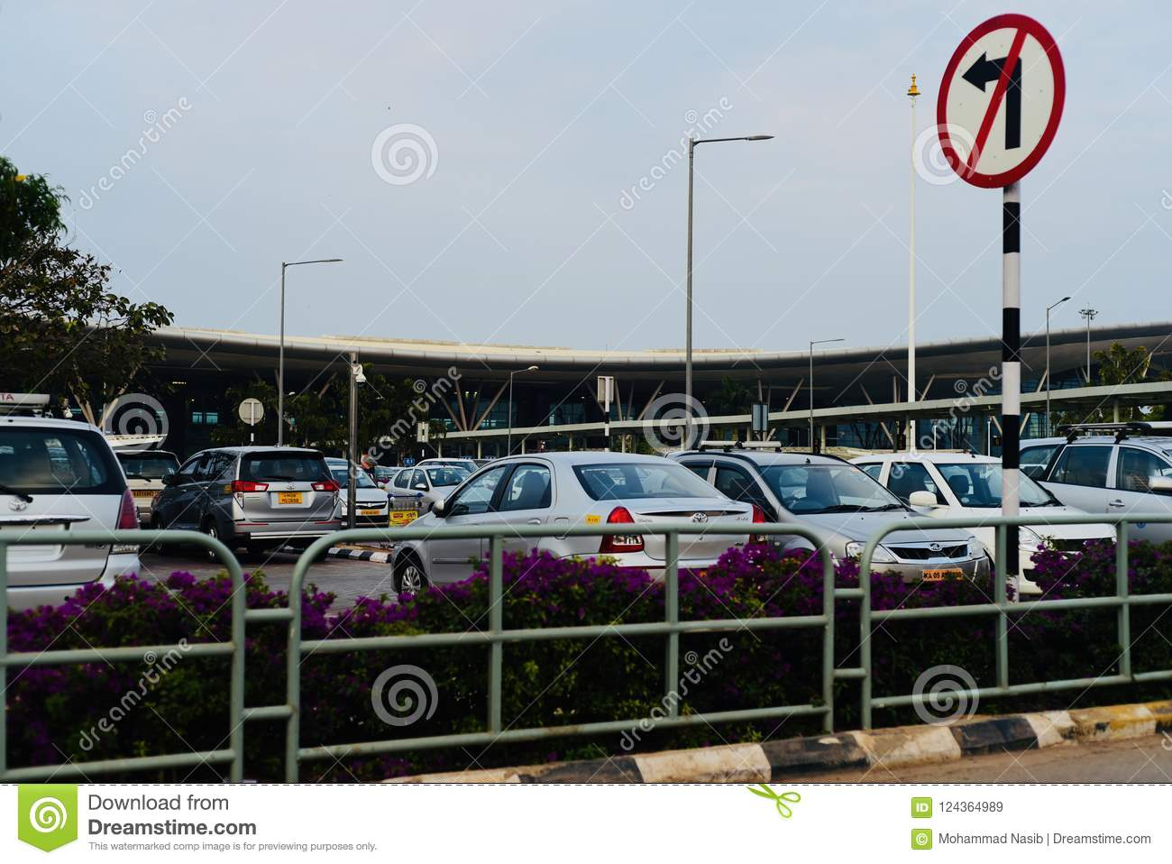 Download Cars Are Parked Around An International Airport In India Editorial Stock Image - Image of zone, place: 124364989