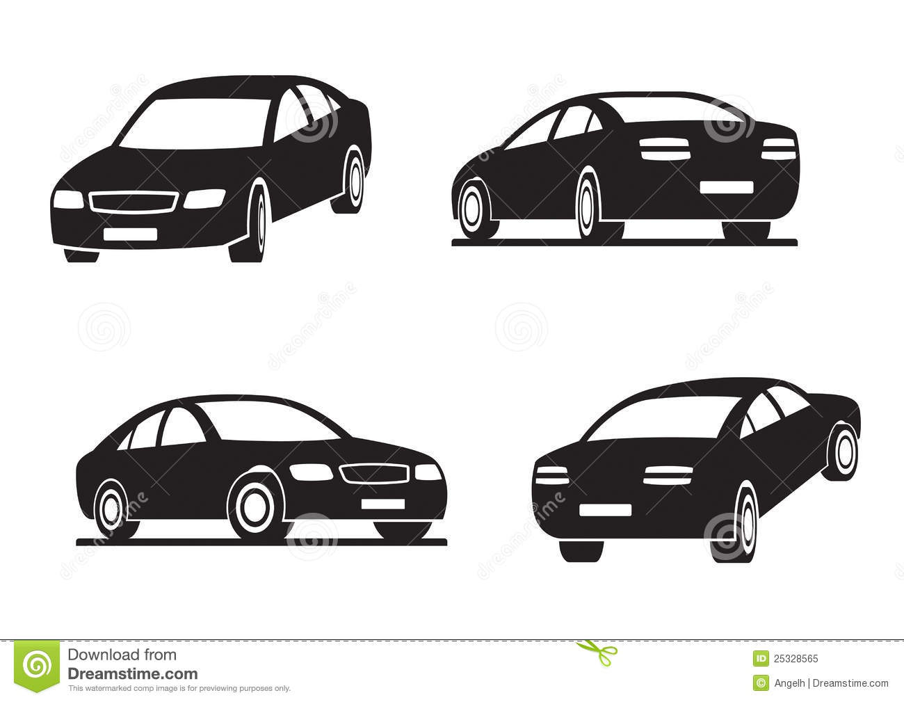Cars In Perspective Royalty Free Stock Photo Image 25328565
