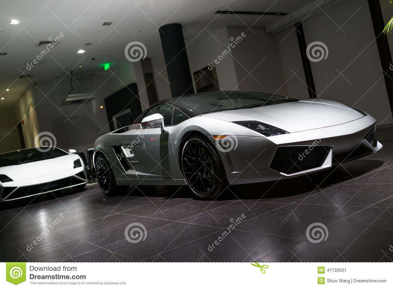 Expensive Car For Sale Or Gift Royalty Free Stock Image