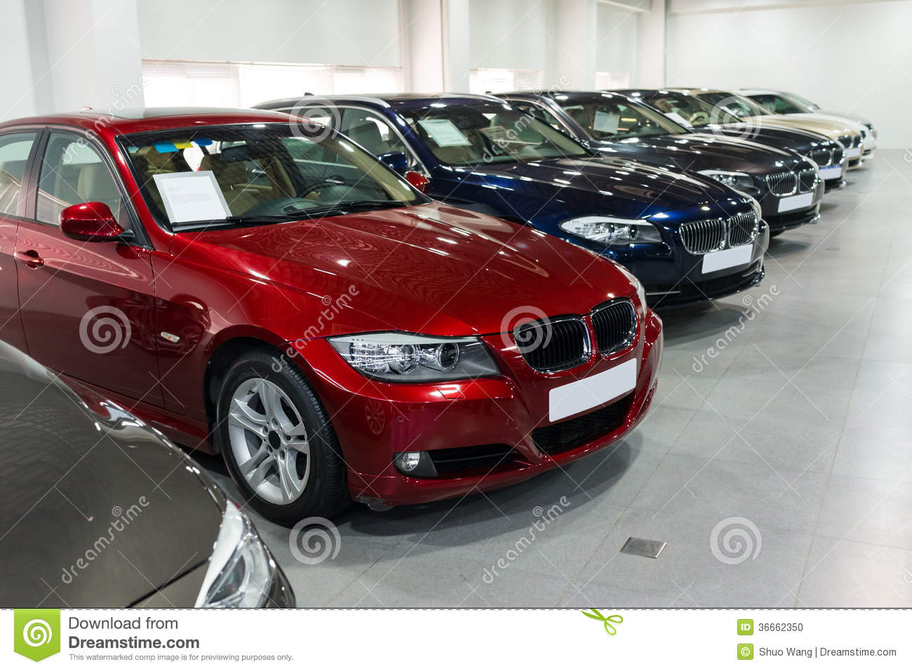 Expensive Car For Sale Or Gift Royalty Free Stock Image: Cars For Sale In Showroom Stock Photo