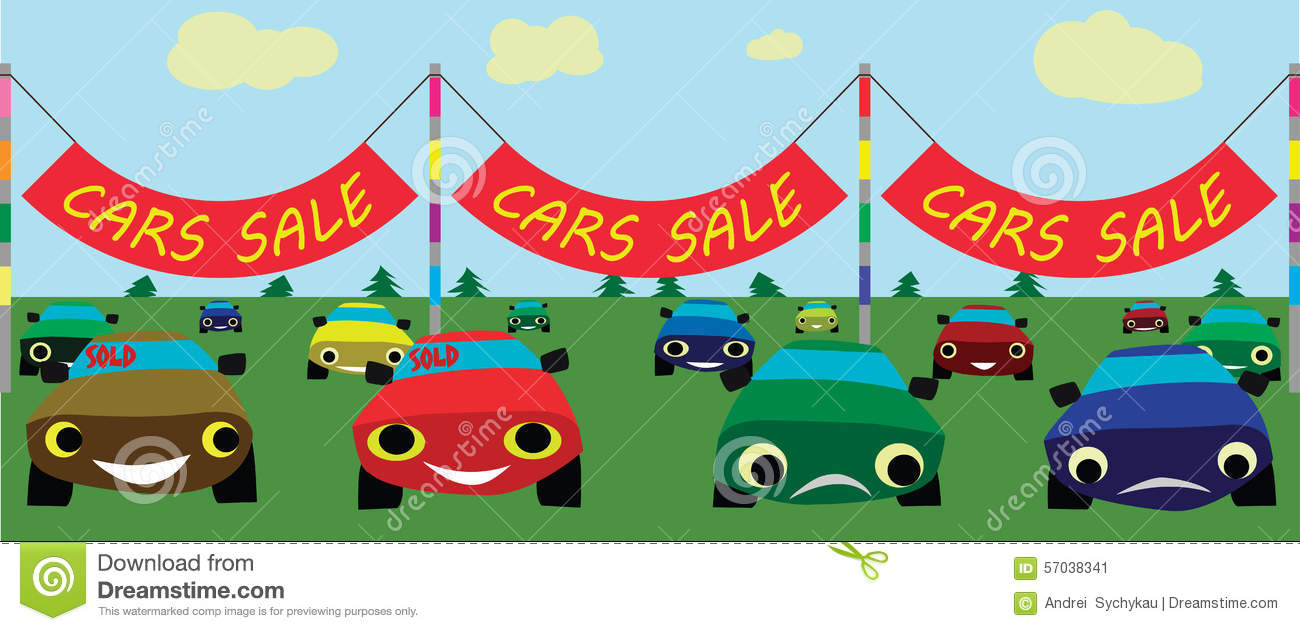 Cars sale, vector stock vector. Illustration of vector - 57038341