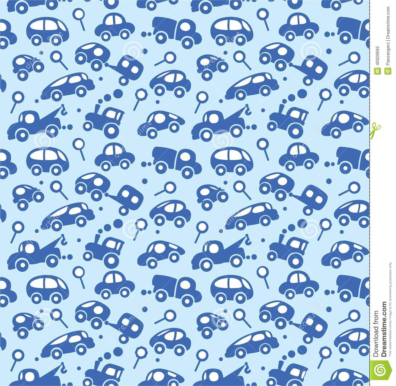 Cars. Seamless Pattern. Stock Vector - Image: 40929693