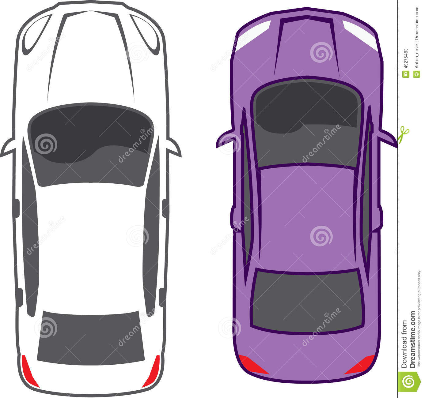 Cars Top View Stock Vector - Image: 49275483