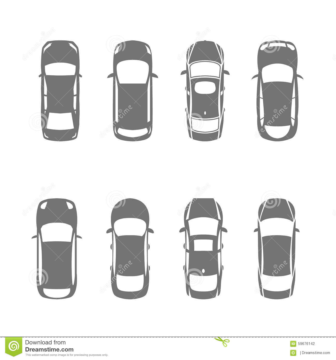 cars top view stock vector illustration of transportation