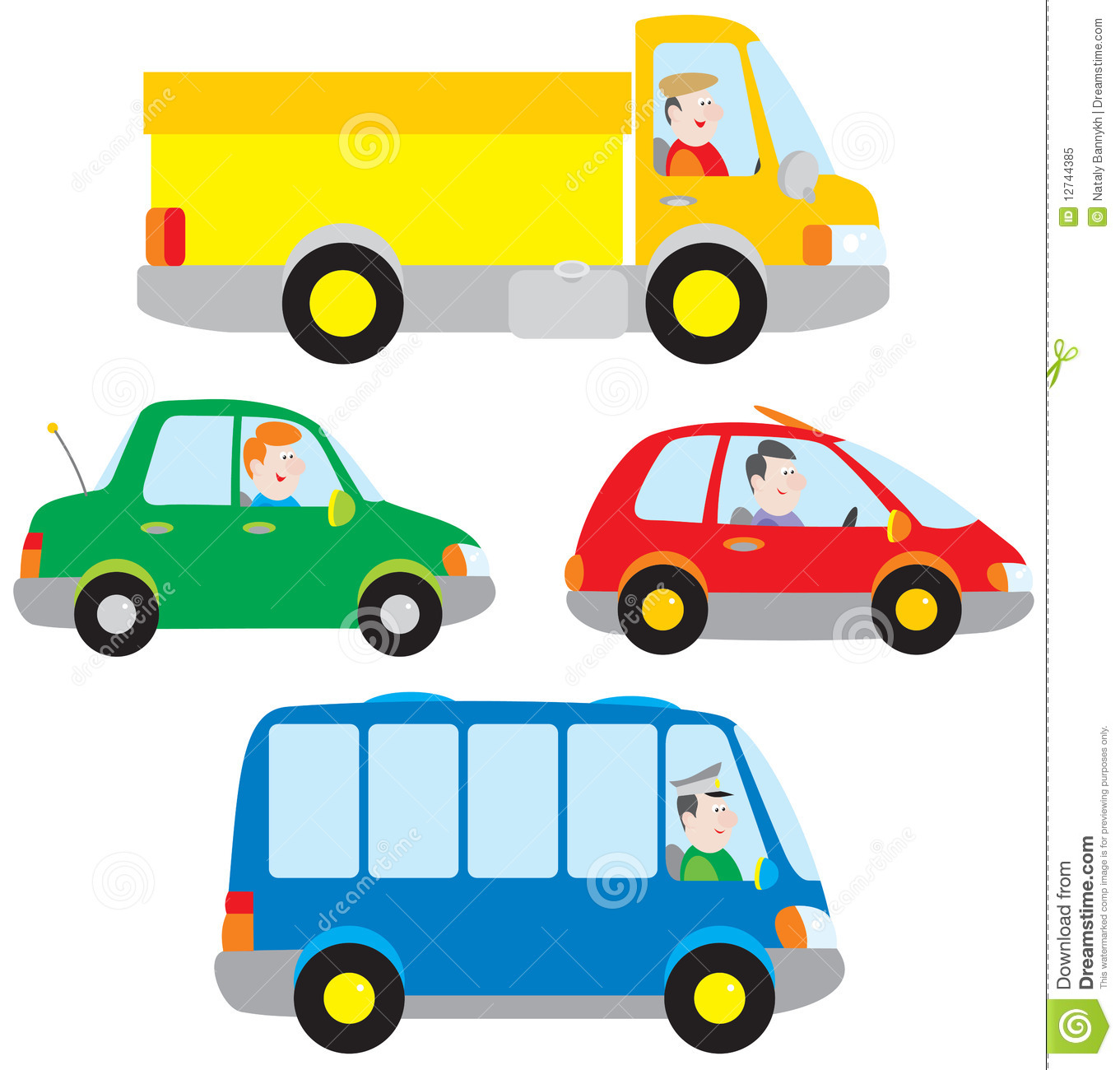 Cars, Truck And Bus Royalty Free Stock Photo - Image: 12744385
