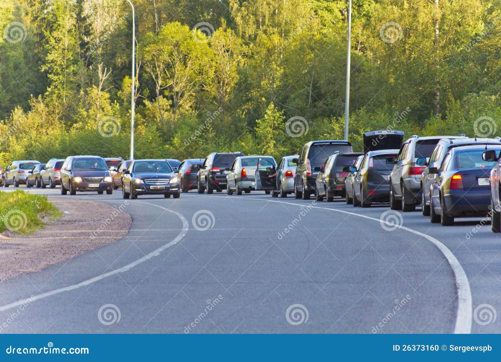 Cars in turn
