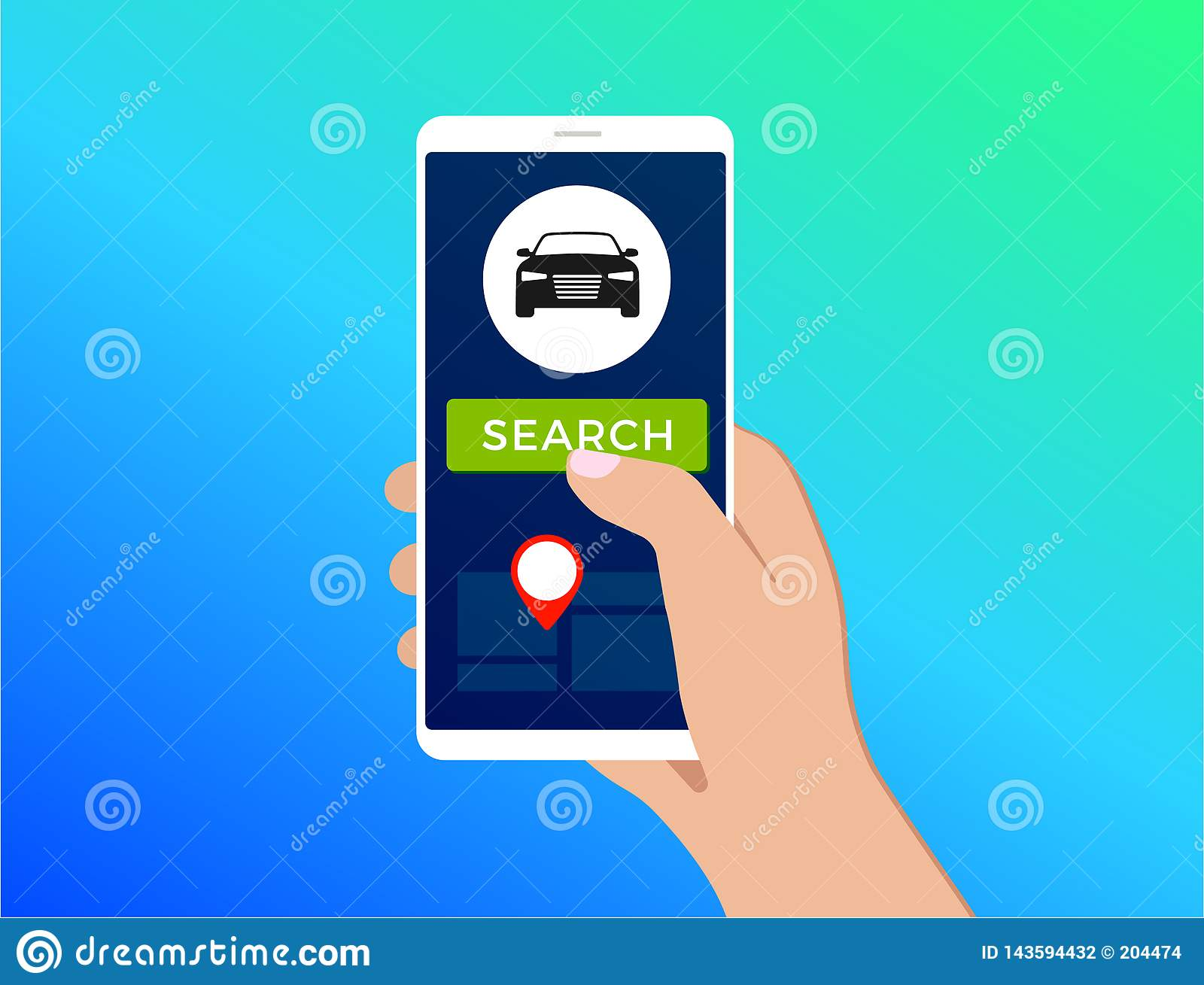Carsharing Carpooling Service Illustration Concept Stock