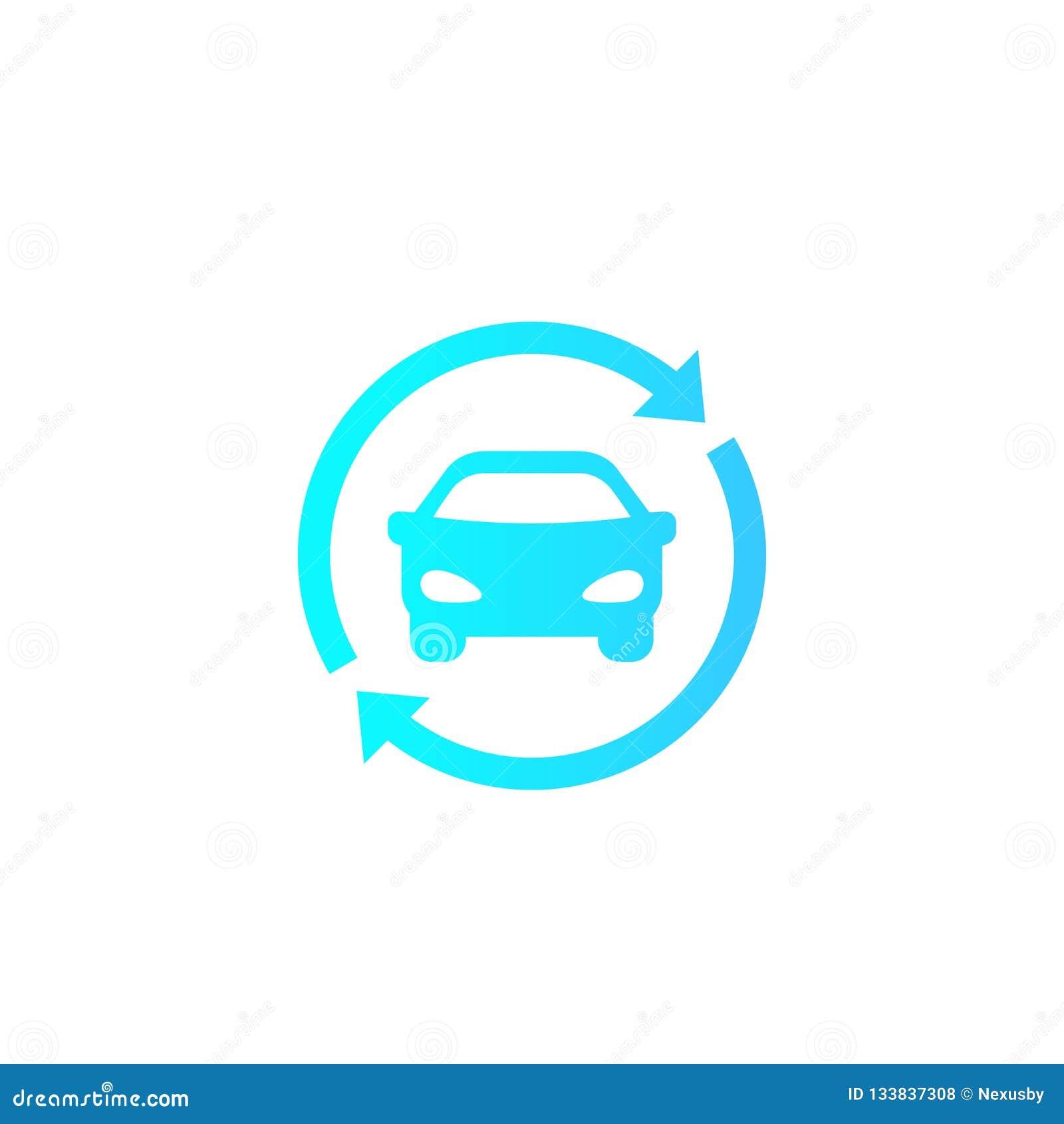 Carsharing Rental Service Vector Logo Icon Stock Vector