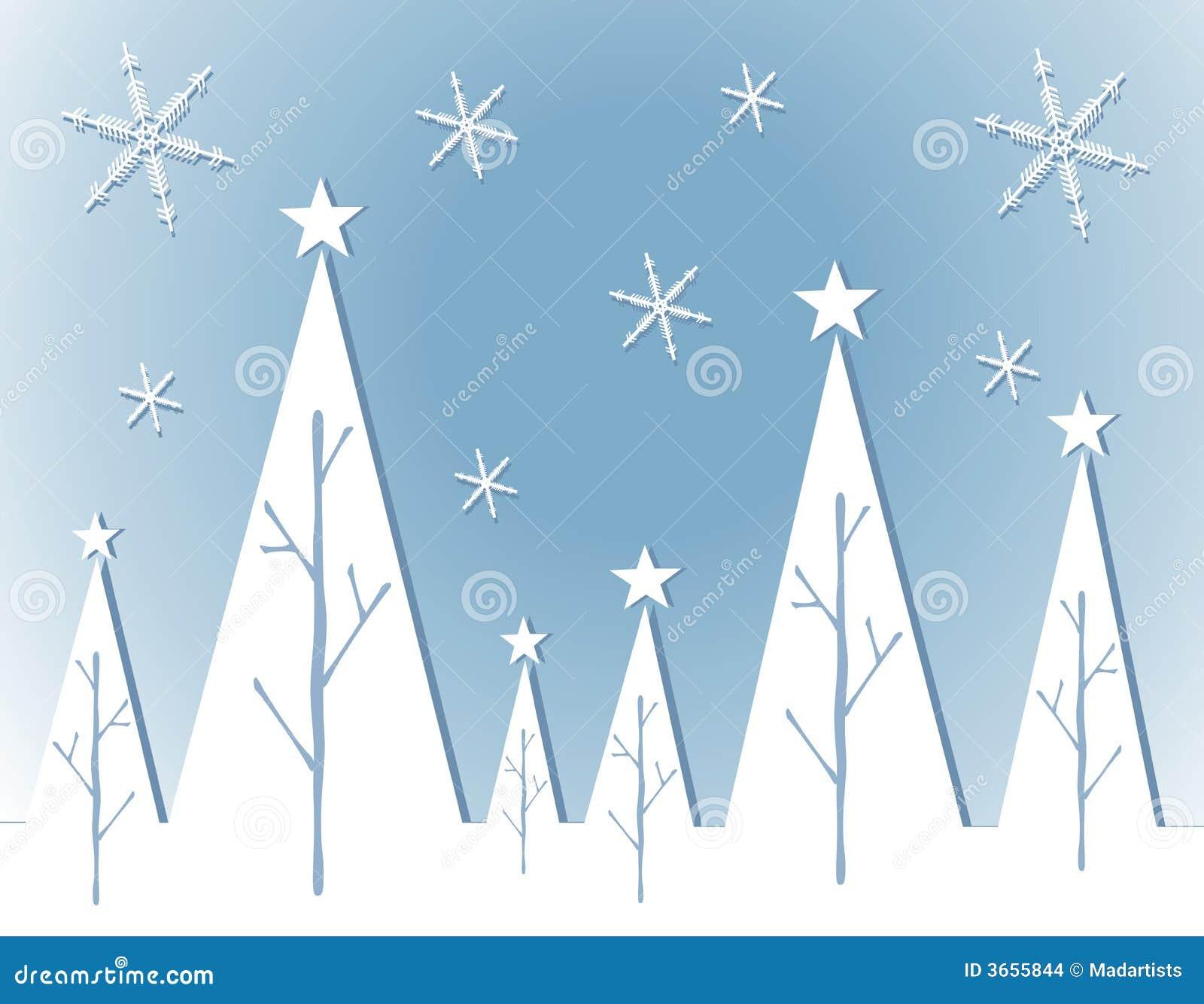 Cartão abstrato da árvore de Natal branco