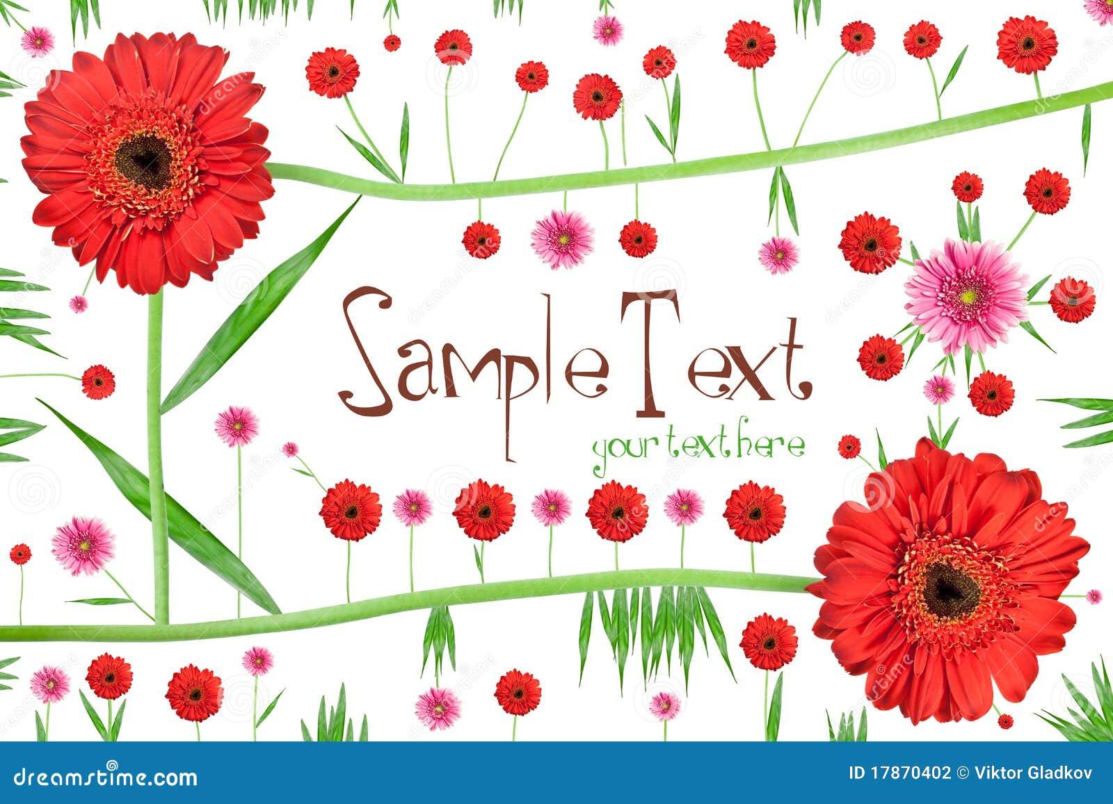 Cartão abstrato da flor