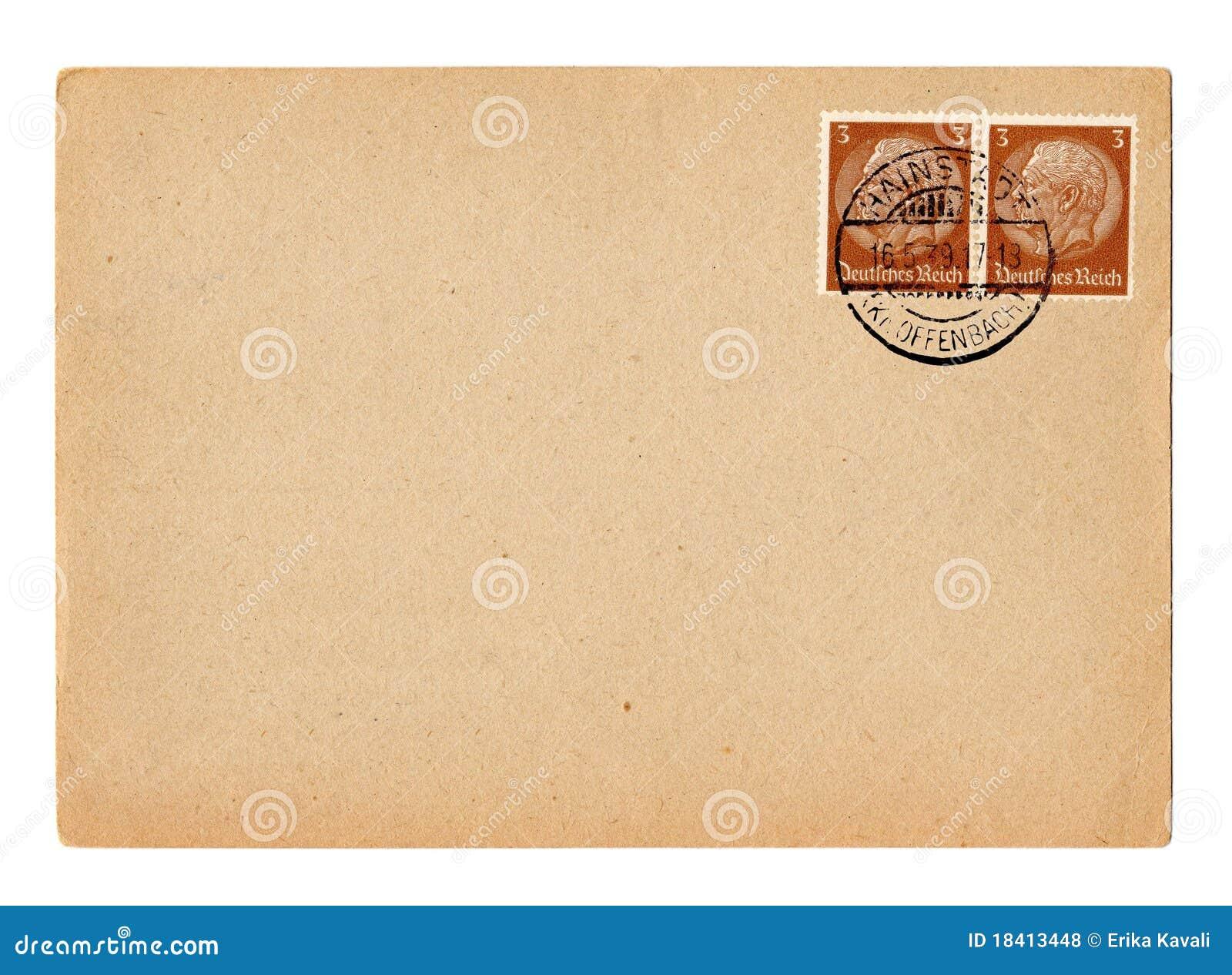 Cartão alemão Hindenburg do Reich