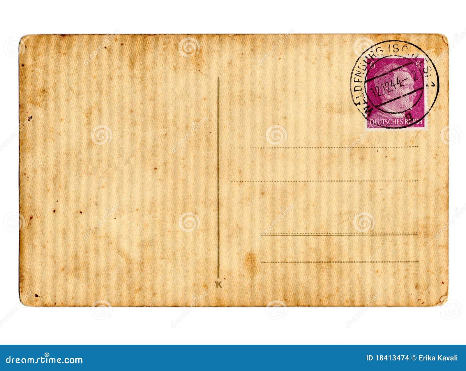 Cartão alemão Hitler do Reich