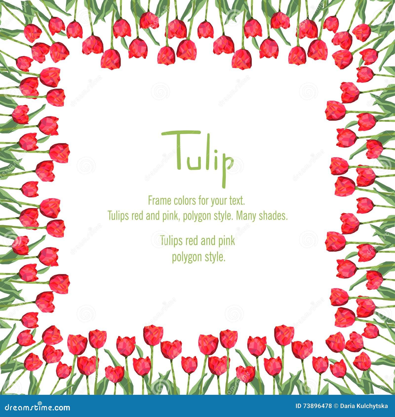 Cart o com as tulipas vermelhas situadas na borda flores - Tulipas para ventiladores de techo ...