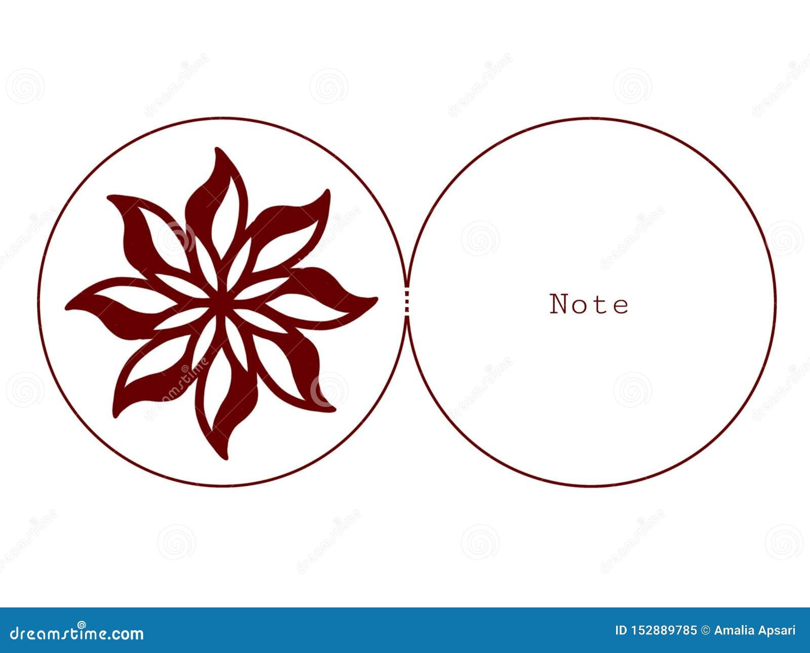 Cartão com a flor que corta a arte