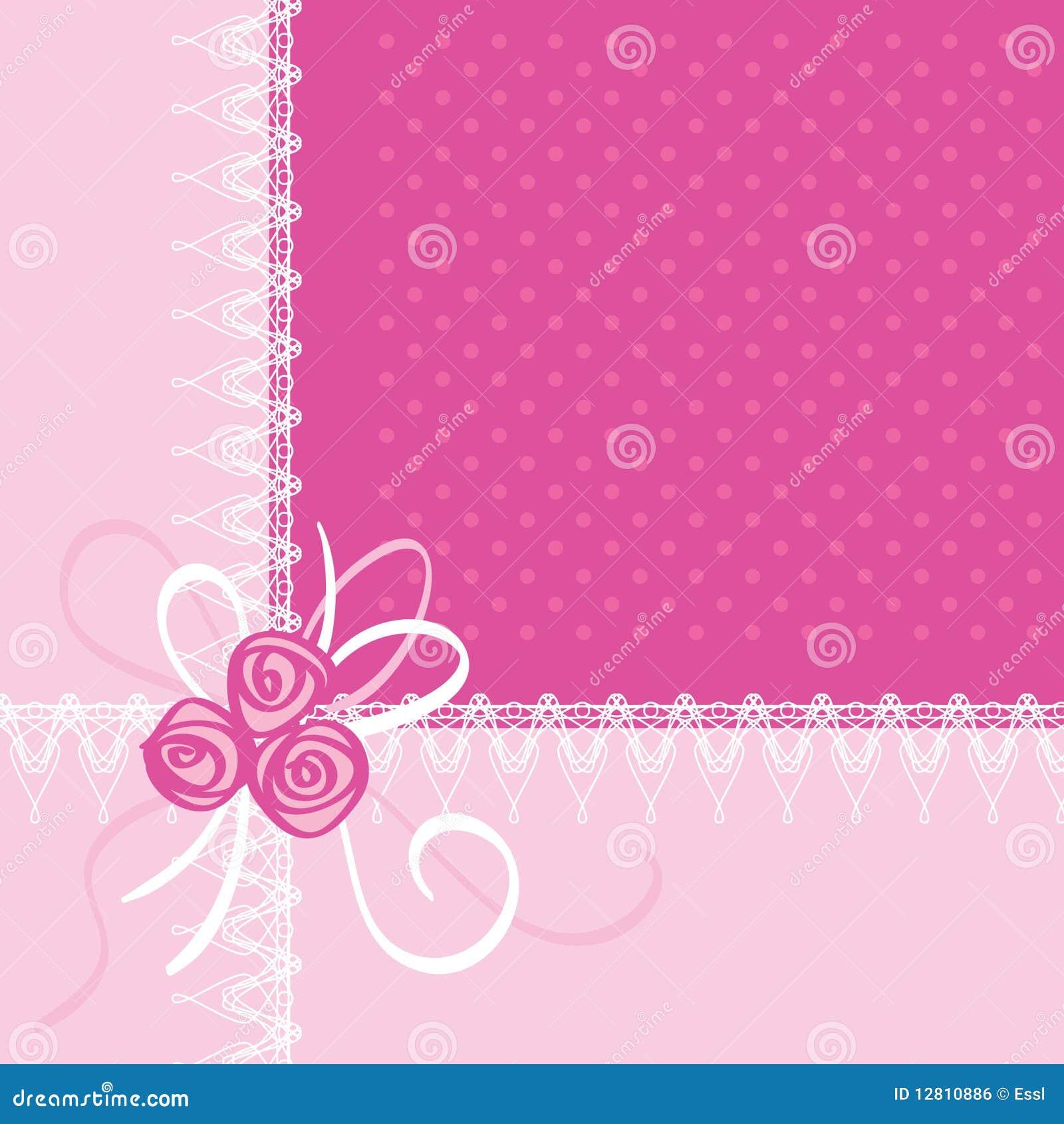 Cartão com flores de Rosa