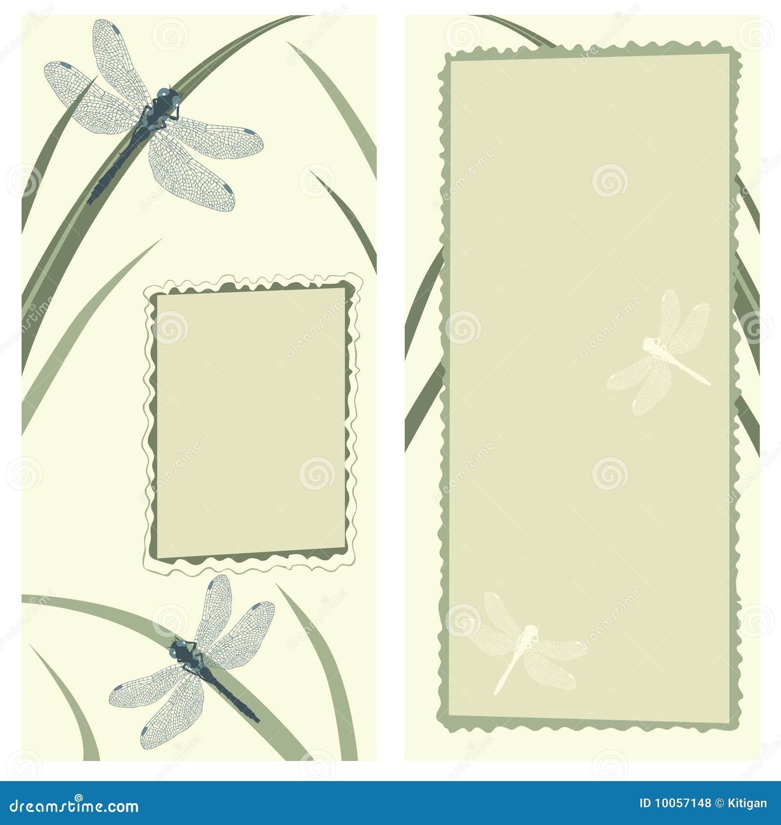 Cartão com libélulas