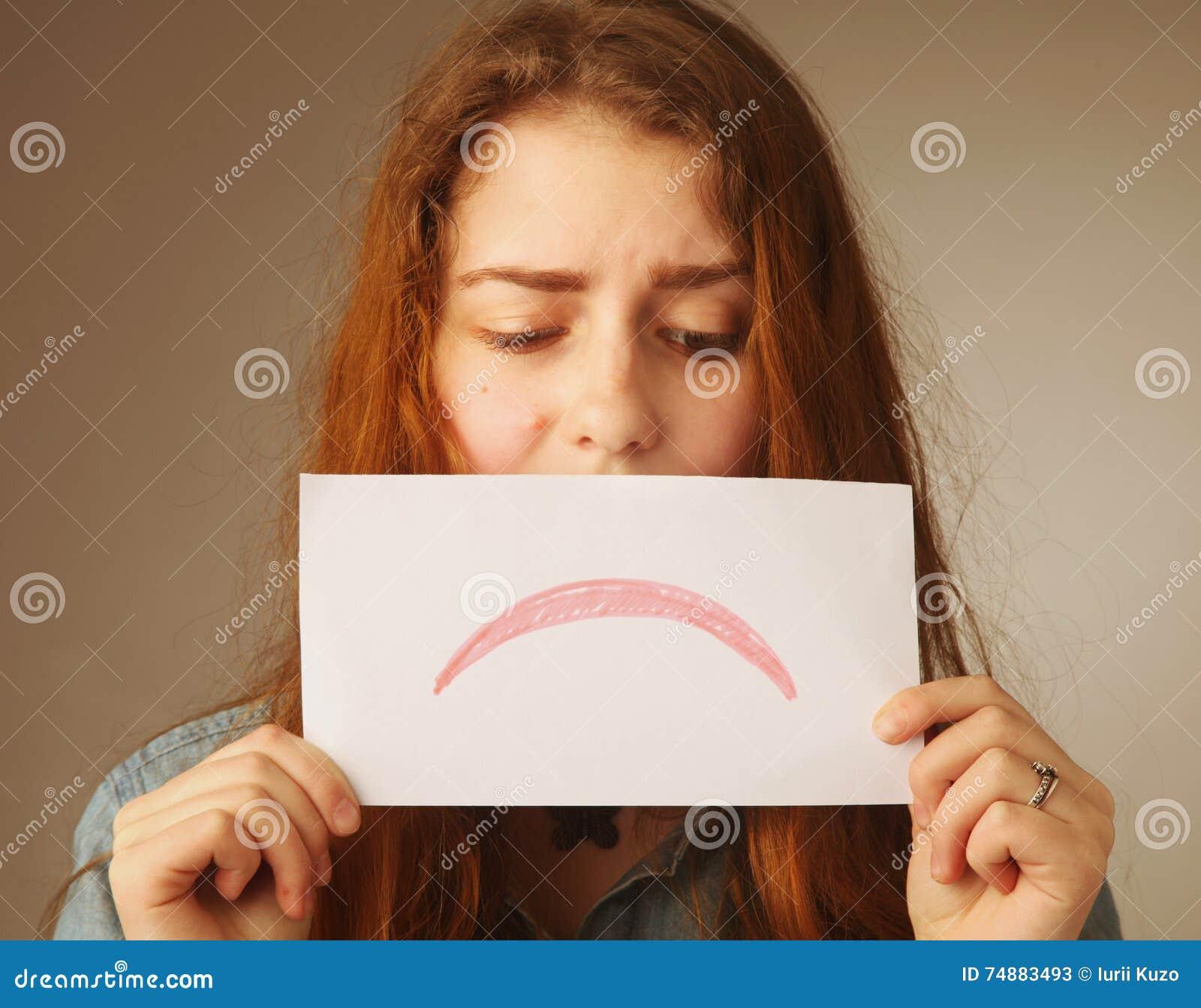 Cartão da decepção (emoção, gestos)