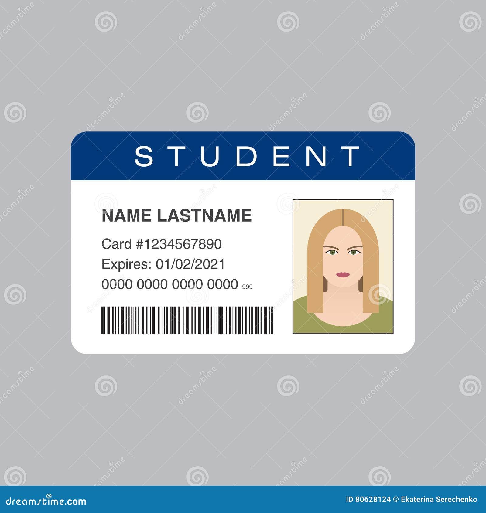 Cartão da identificação do estudante