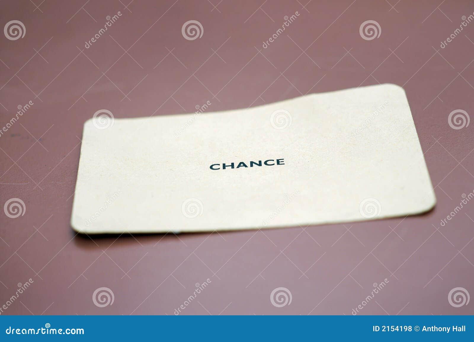 Cartão da possibilidade na tabela
