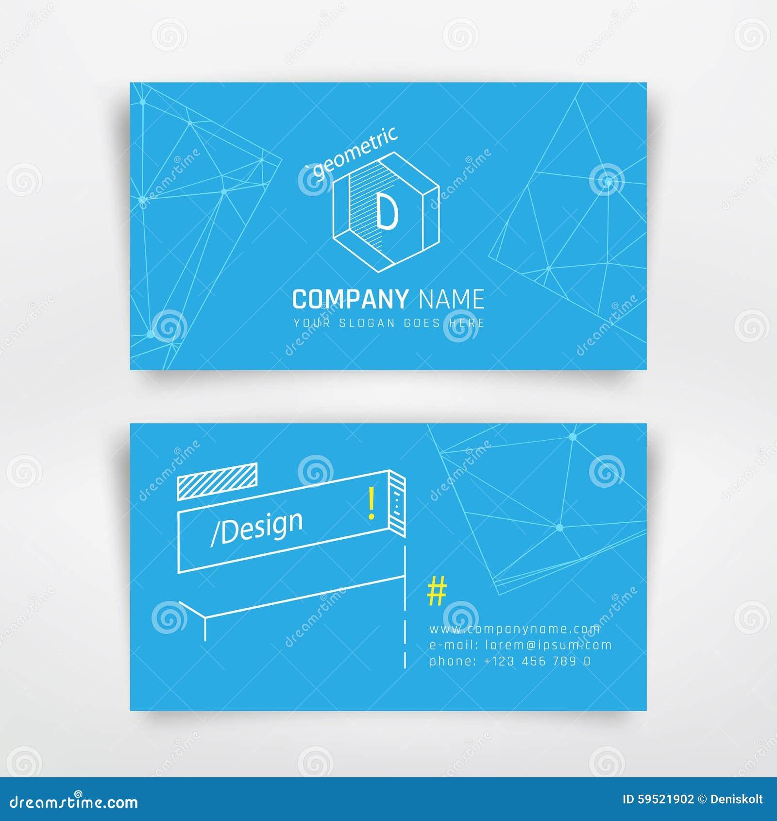 Cartão da visita do negócio