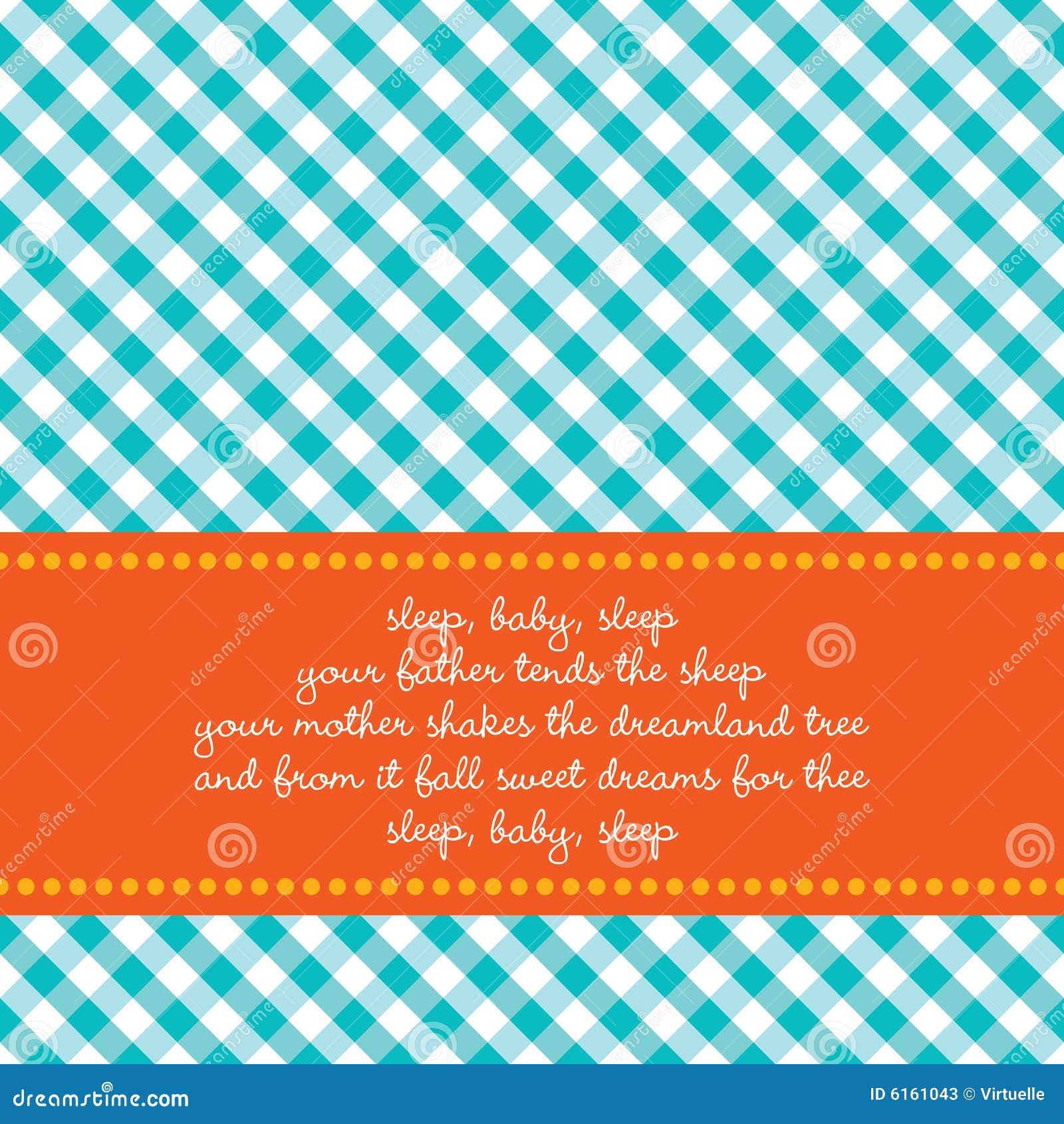 Cartão de aniversário com canção de ninar do bebê