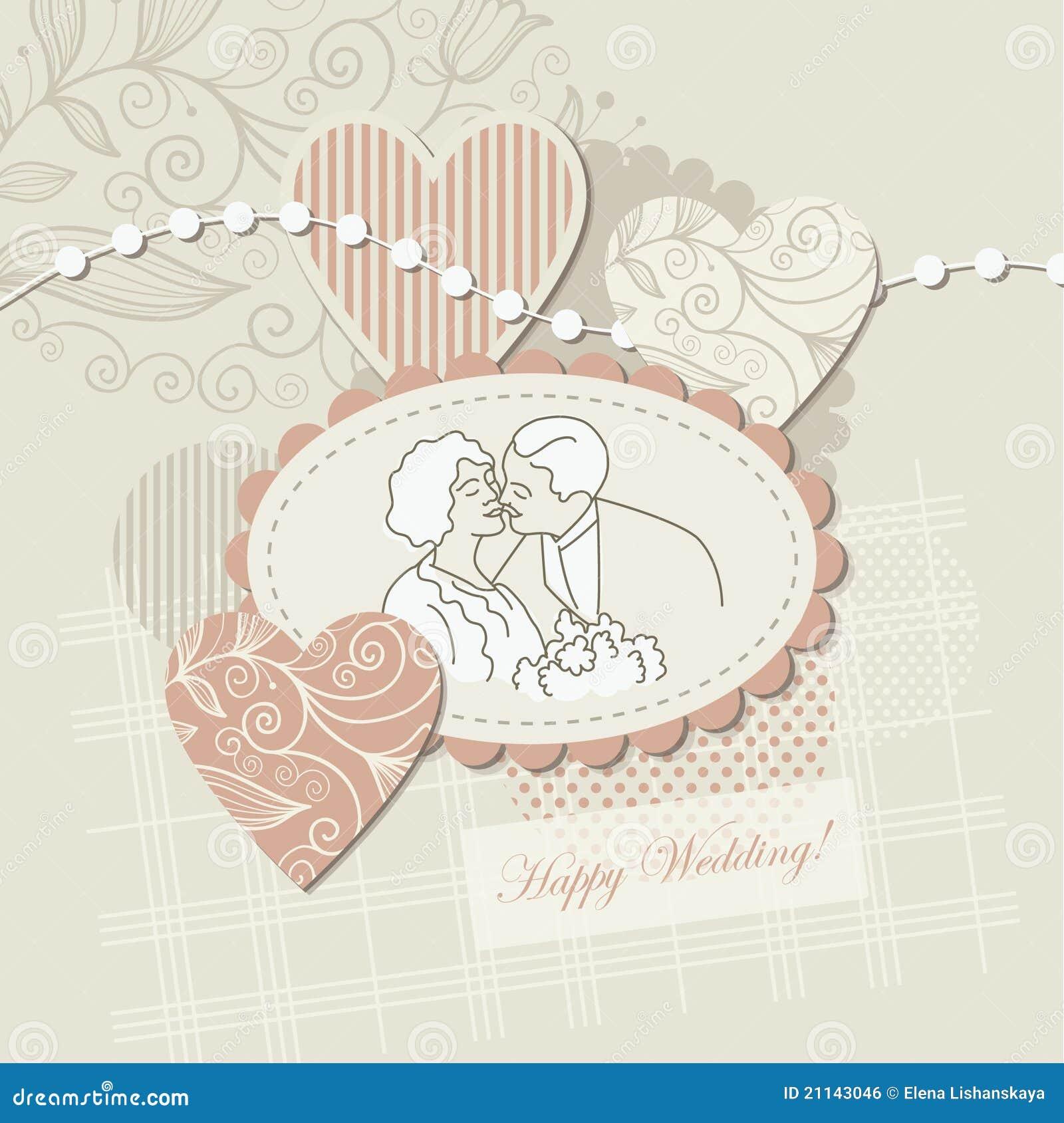 Cartão de casamento, elemento do sucata-registo