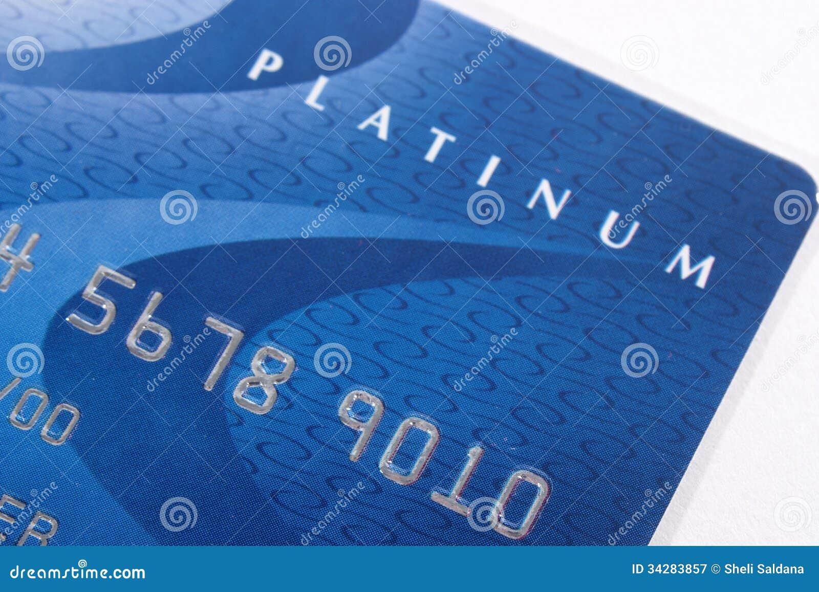 Cartão de crédito azul do visto
