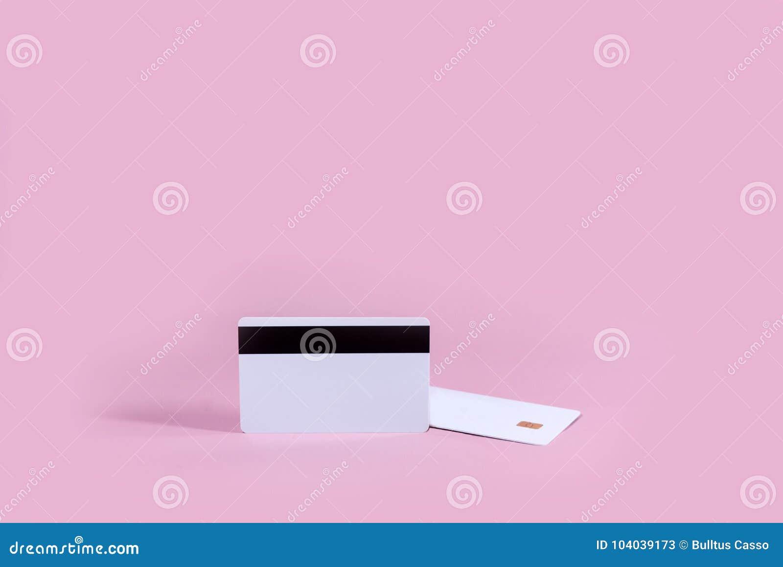 Cartão de microplaqueta vazio do molde do cartão de crédito vazio