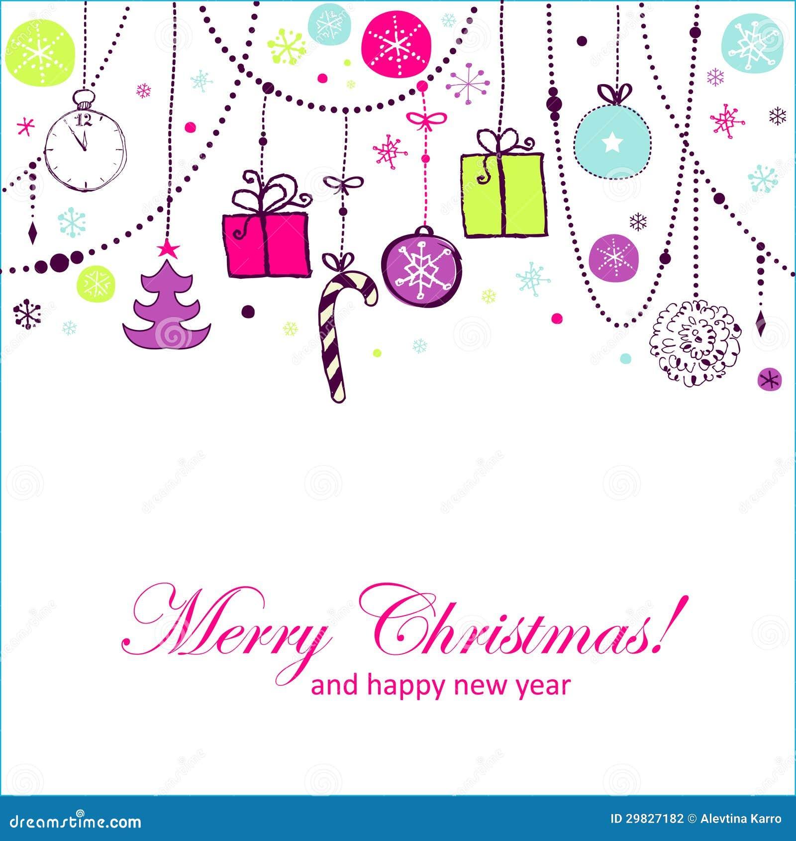 Cartão do feriado com elementos coloridos