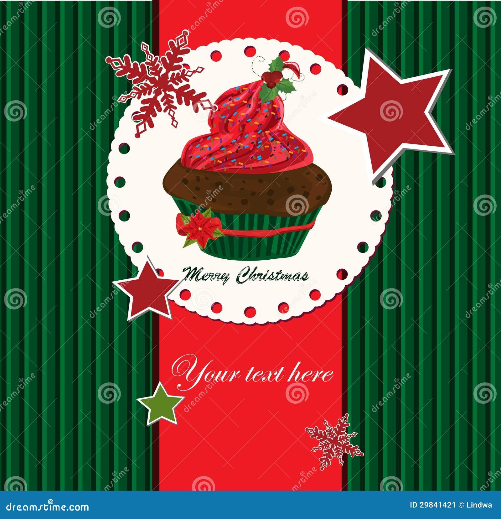 Cartão de Natal com muffin