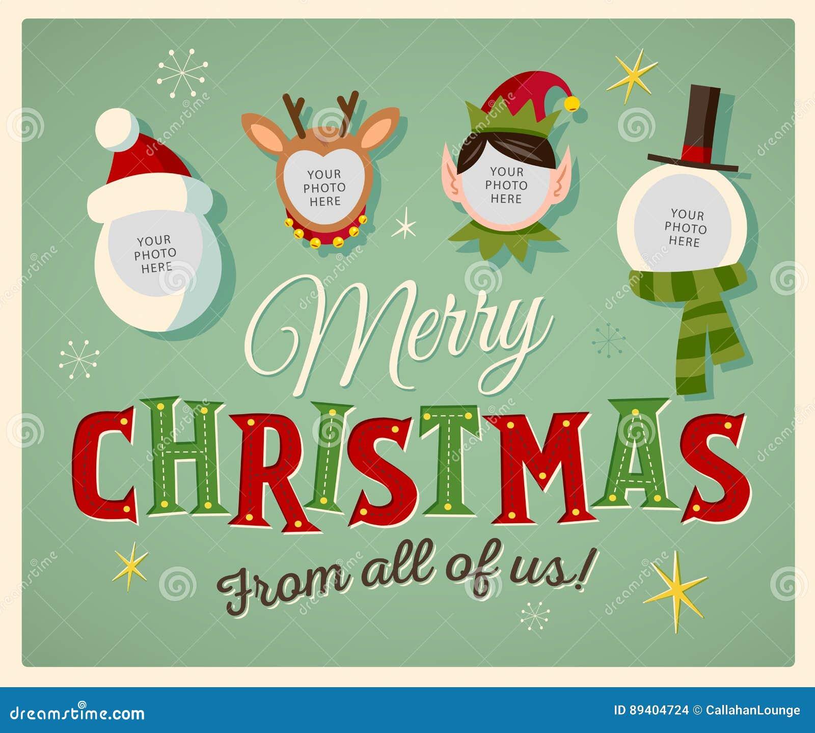 Cartão de Natal do espírito da família