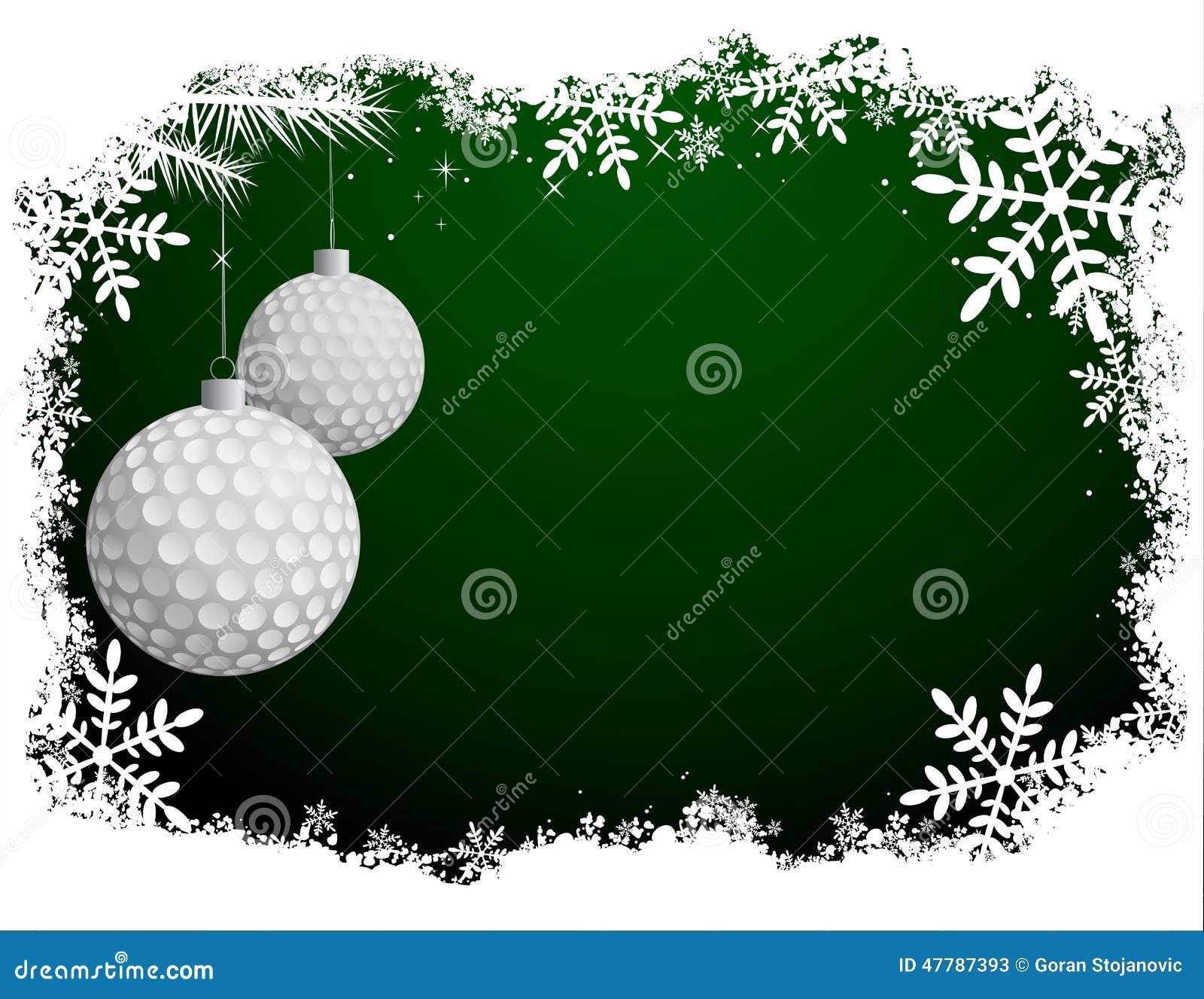 Cartão de Natal do golfe