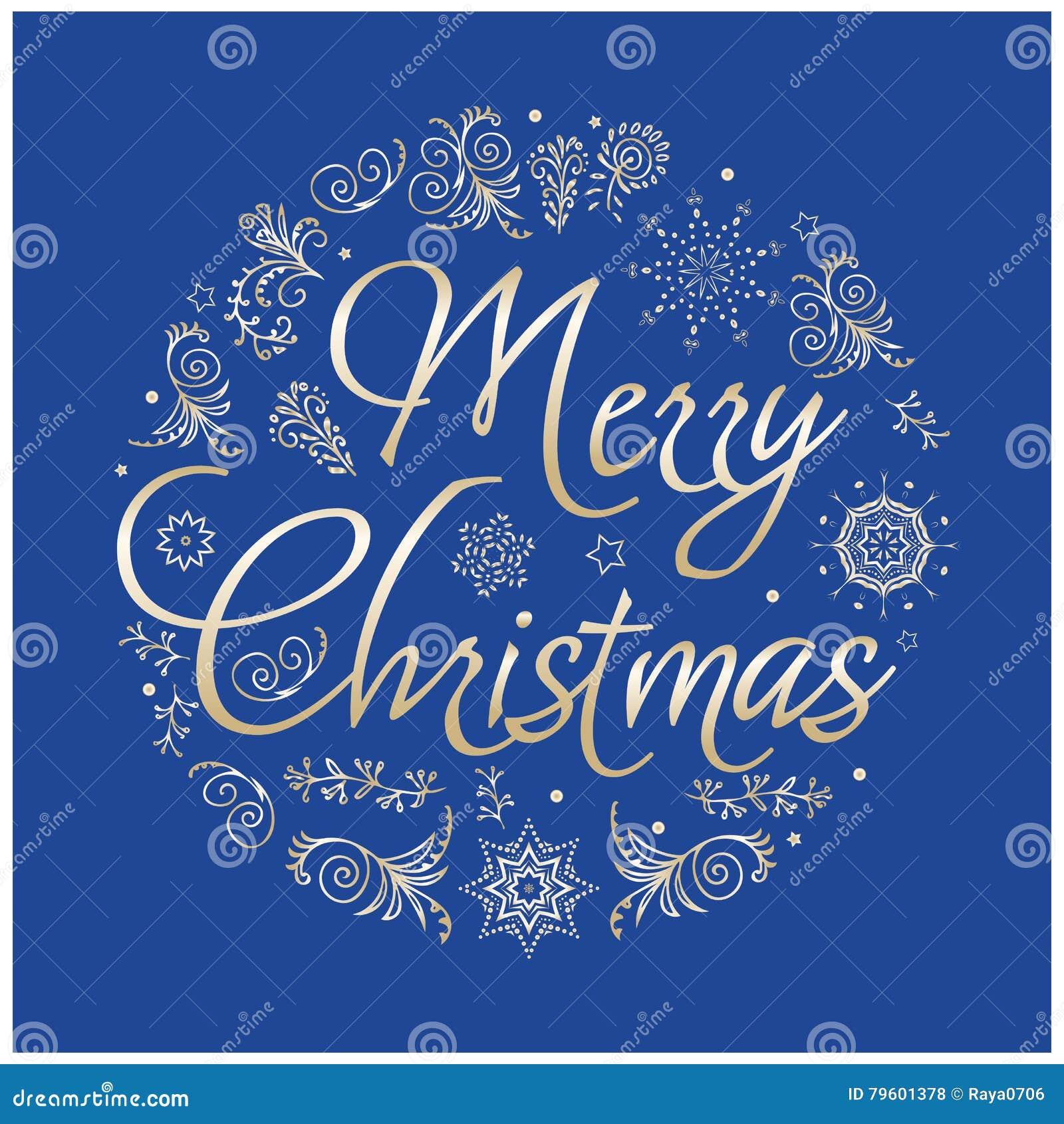 Cartão de Natal Ilustração desenhada mão do vetor